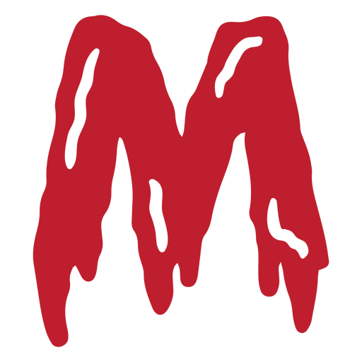 Halloween bloody letter m Transparent PNG