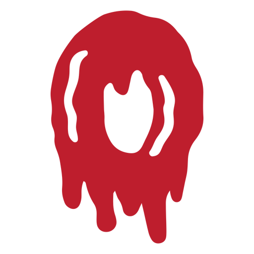 Halloween bloody letter o