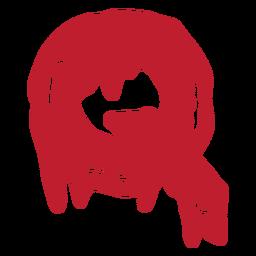 Letra sangrenta de Halloween q