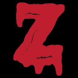 Halloween bloody letter z