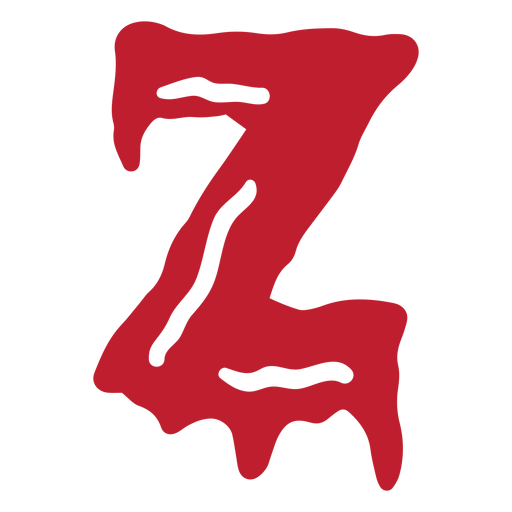 Halloween bloody letter z Transparent PNG