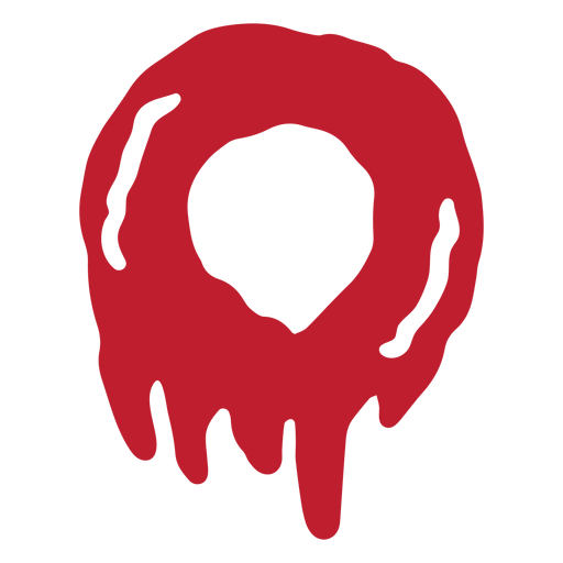Halloween bloody number 0 Transparent PNG