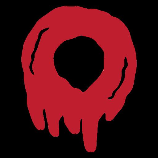 Número sangrento do Dia das Bruxas 0 Transparent PNG
