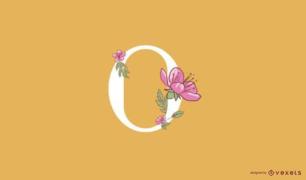 Floral letter o logo template