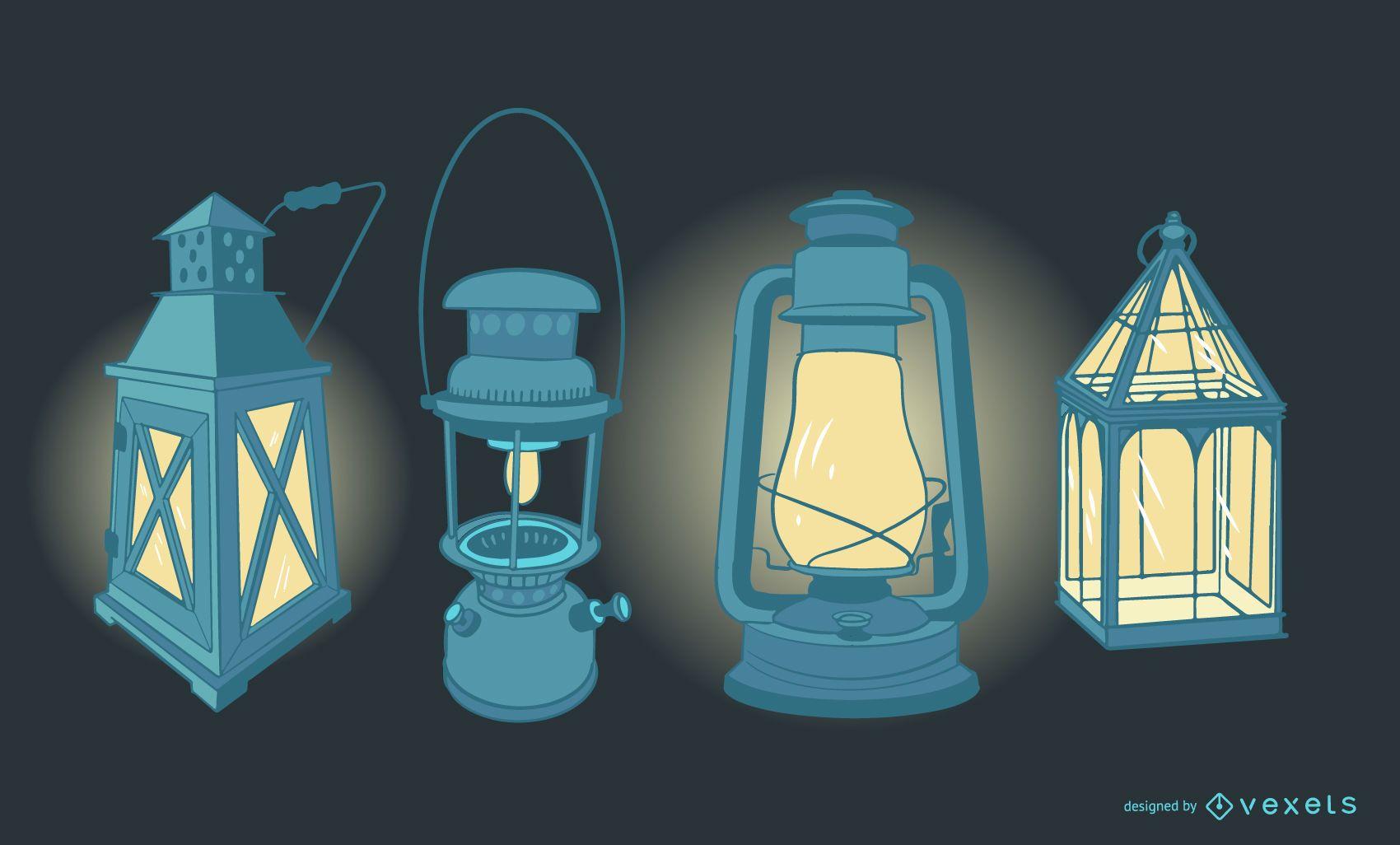 Antique Lamp Design Set