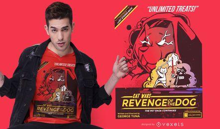 Cat Wars Rache T-Shirt Design