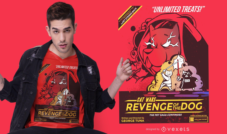 Design de camiseta de vingança do Cat wars