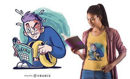 Design de t-shirt de cara de Sudoku