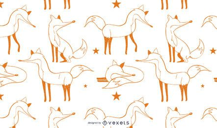Fox Illustration Pattern Design
