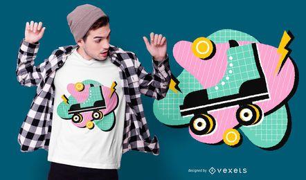 80er Jahre Style Roller T-Shirt Design