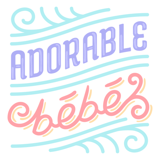 Adorable baby french lettering
