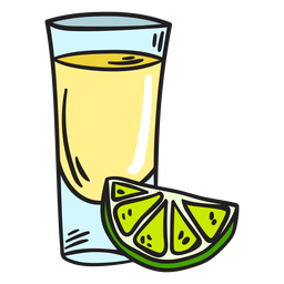 Alcoholic beverage tequila illustration