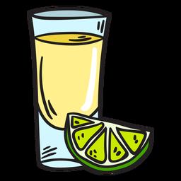 Ilustração de margarita de bebidas alcoólicas