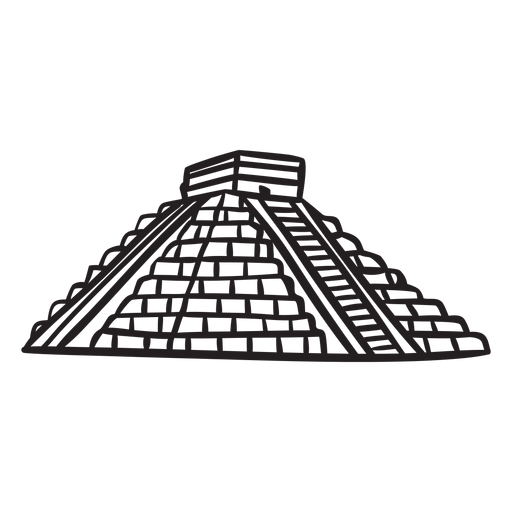 Ancient temple aztec mexico stroke