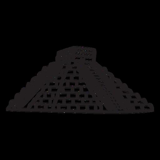 Antiguo templo azteca méxico trazo