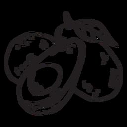 Avocado-Frucht-Schlaganfall
