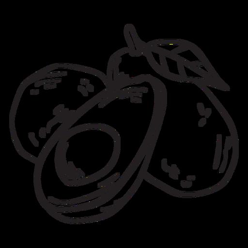 Golpe de fruta de aguacate Transparent PNG