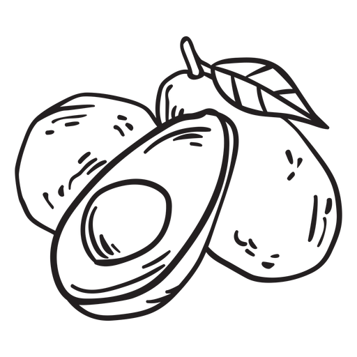 Golpe de fruta de aguacate