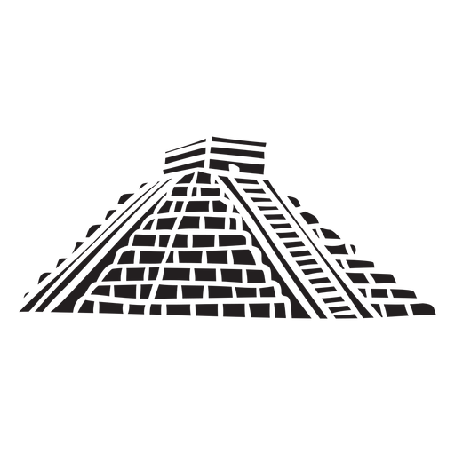 Aztec temple silhouette Transparent PNG