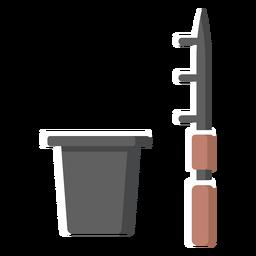 Ilustração de caça de arpão de balde