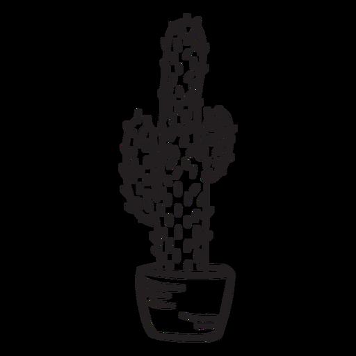 Cactus planta maceta alto trazo Transparent PNG