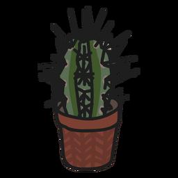 Ilustración suculenta de cactus