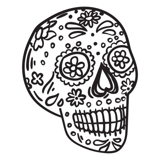 Candy skull stroke Transparent PNG
