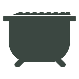 Cauldron cook silhouette icon