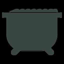 Icono de silueta de cocinero de caldero