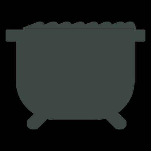 Icono de silueta de cocinero de caldero Transparent PNG