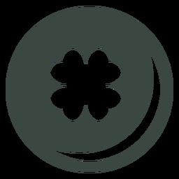 Clover four leaf icon