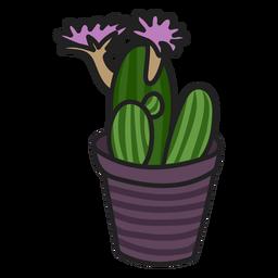 Ilustração colorida de suculenta