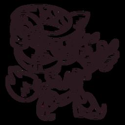 Ilustración de bruja incolora
