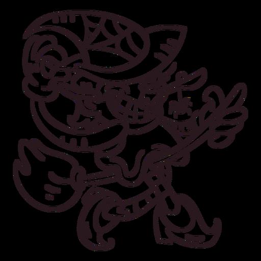 Ilustração de bruxa incolor Transparent PNG