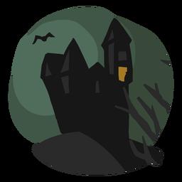 Ilustração de casa velha assustadora