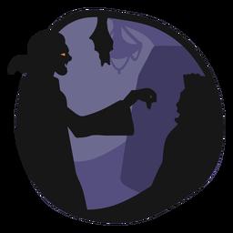 Ilustração de vampiro dracula papercut