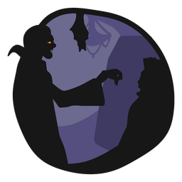 Ilustración de vampiro de papercut de Drácula