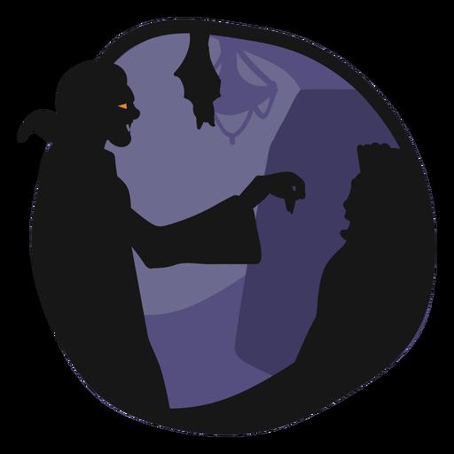 Dracula papercut vampire illustration