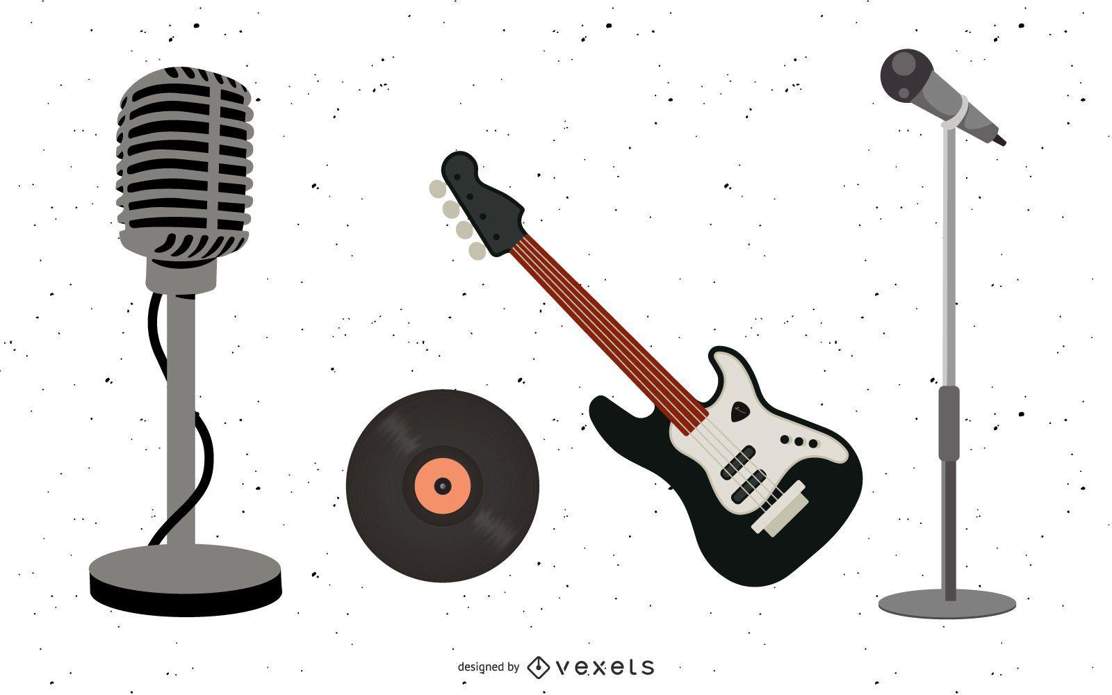 Conjunto de equipo musical