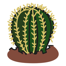 Fat cactus plant illustration