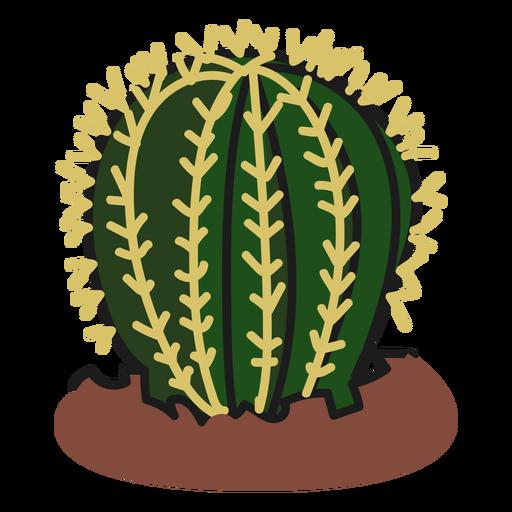 Fat cactus plant illustration Transparent PNG