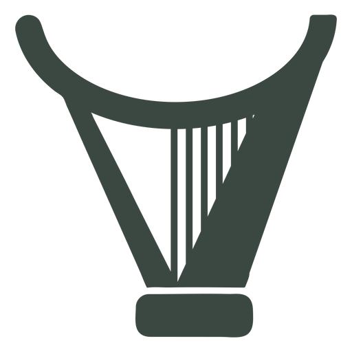 Flat harp silhouette icon Transparent PNG