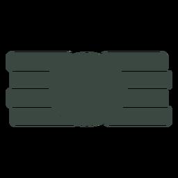 Icono de símbolo plano