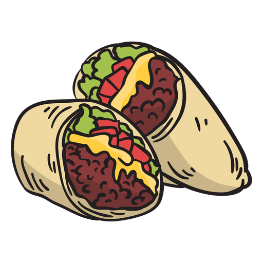 Food mexican burrito illustration