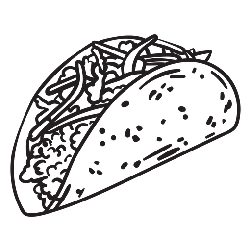 Curso de taco de comida Transparent PNG