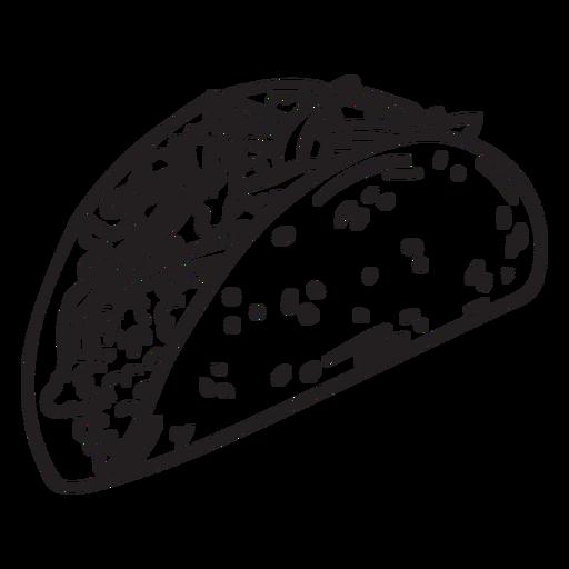Food taco stroke Transparent PNG