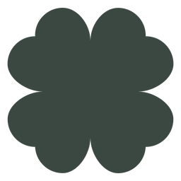 Four leaf clover silhouette