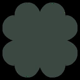 Silhueta de trevo de quatro folhas