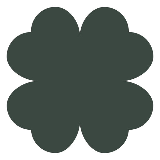 Four leaf clover silhouette Transparent PNG