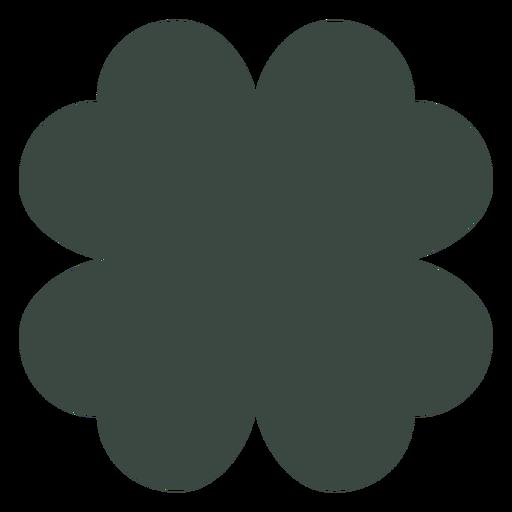Silueta de trébol de cuatro hojas